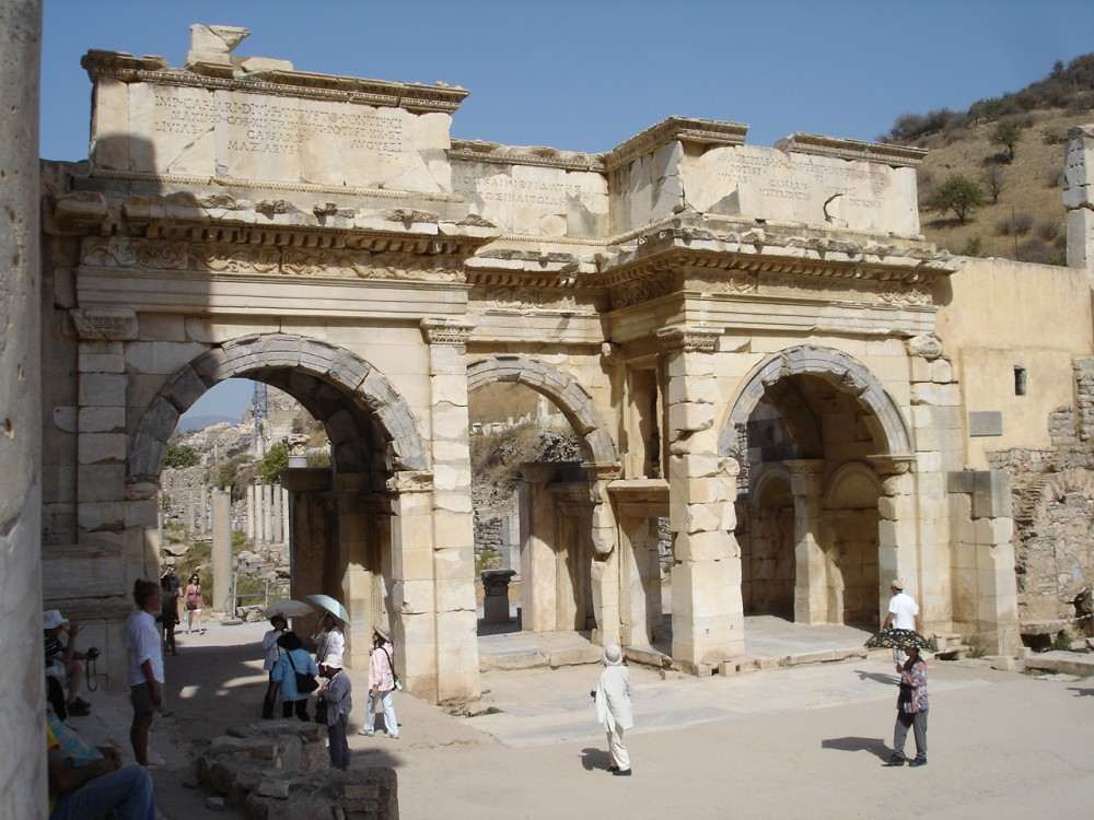 Roman arched gateway at Ephesus
