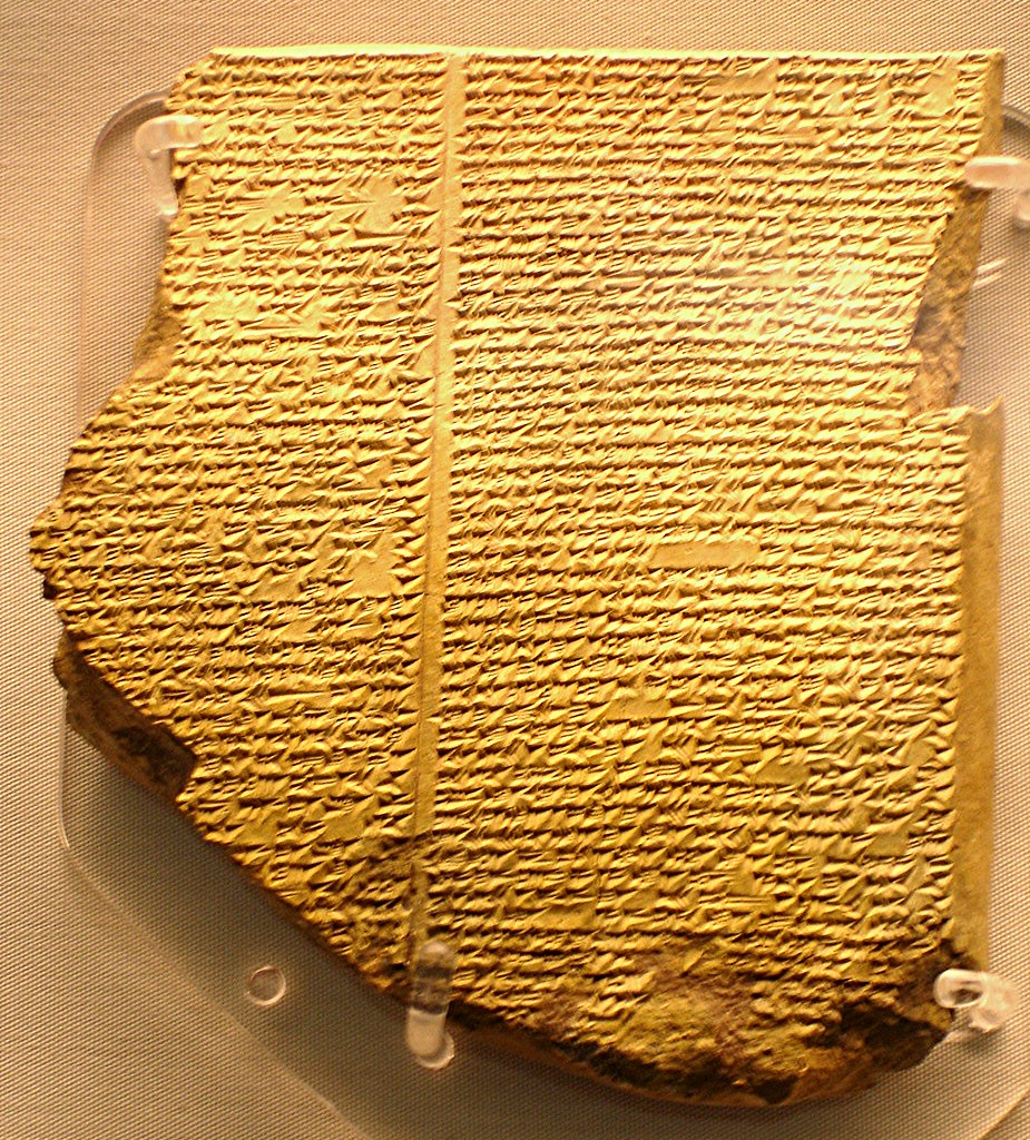The Gilgamesh Epic tablet