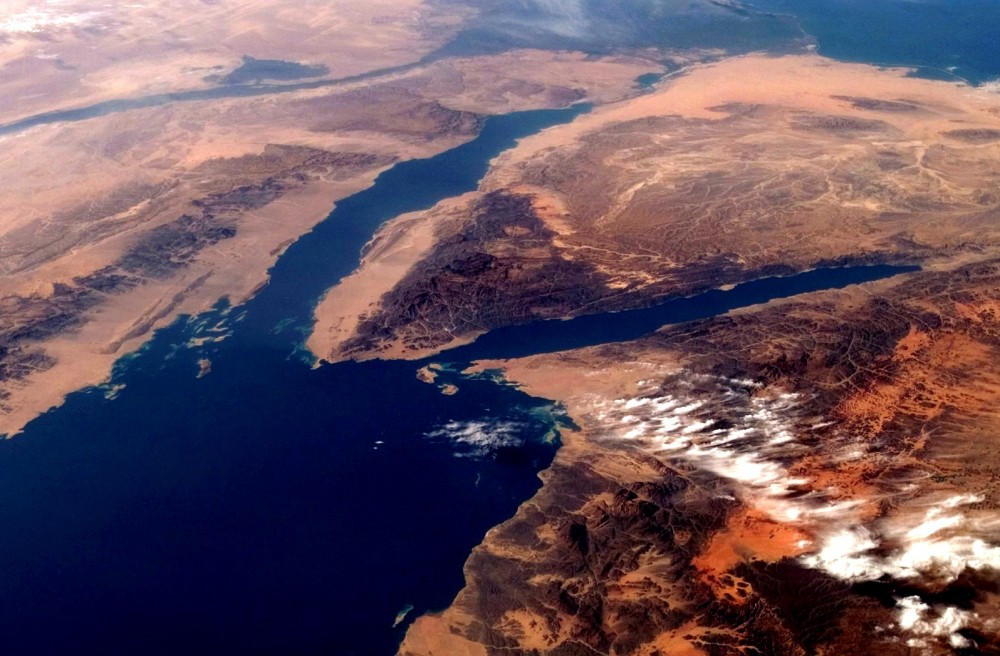 South Sinai Peninsula from space