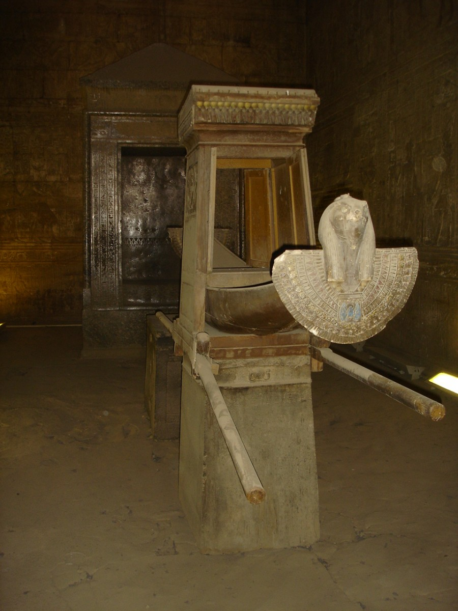 Sacred ark in the Temple of Horus at Edfu, Egypt
