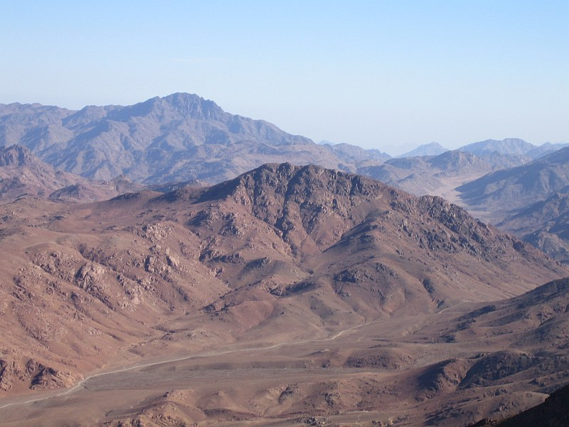 The Sinai Desert from the summit of Mt Sinai