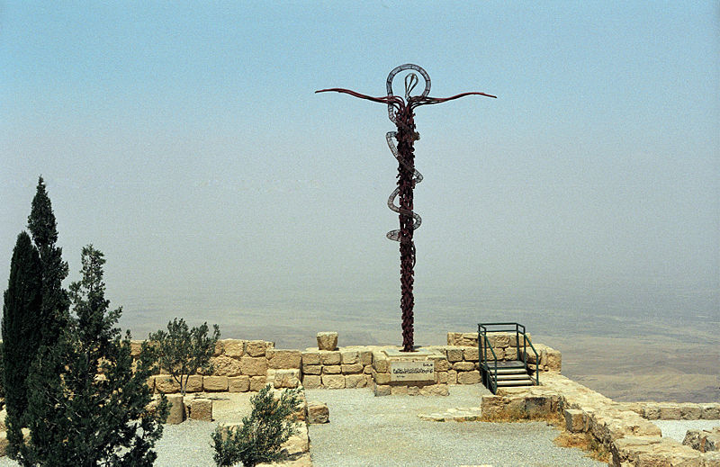 The Bronze Serpent monument on Mt Nebo (Jerzy Strzelecki)