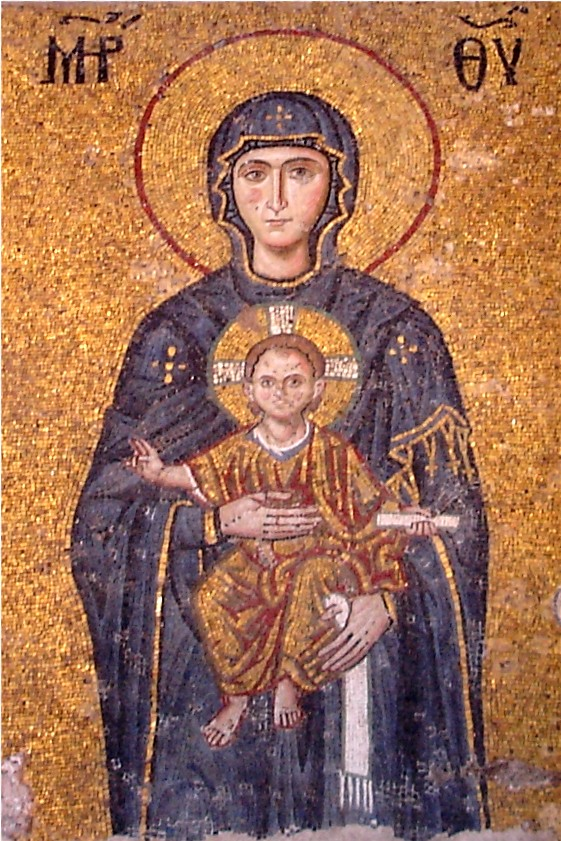 Mosaic of Mary with Jesus