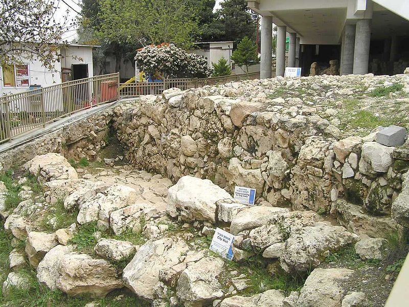 Archaeological remains at Tel Rumeida, Hebron (Eman)