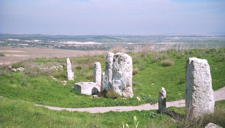 Stone steles at Gezer