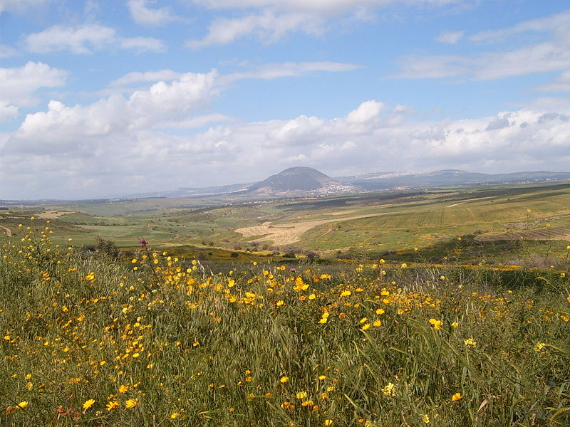 Mount Tabot acroiss the Vale of Jezreel