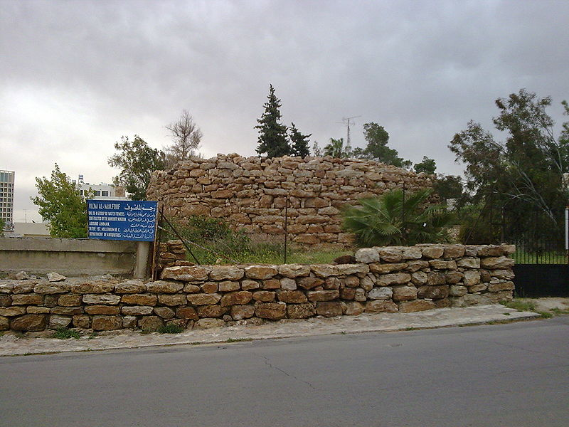 An Ammonite watch tower in Amman (Ldud)