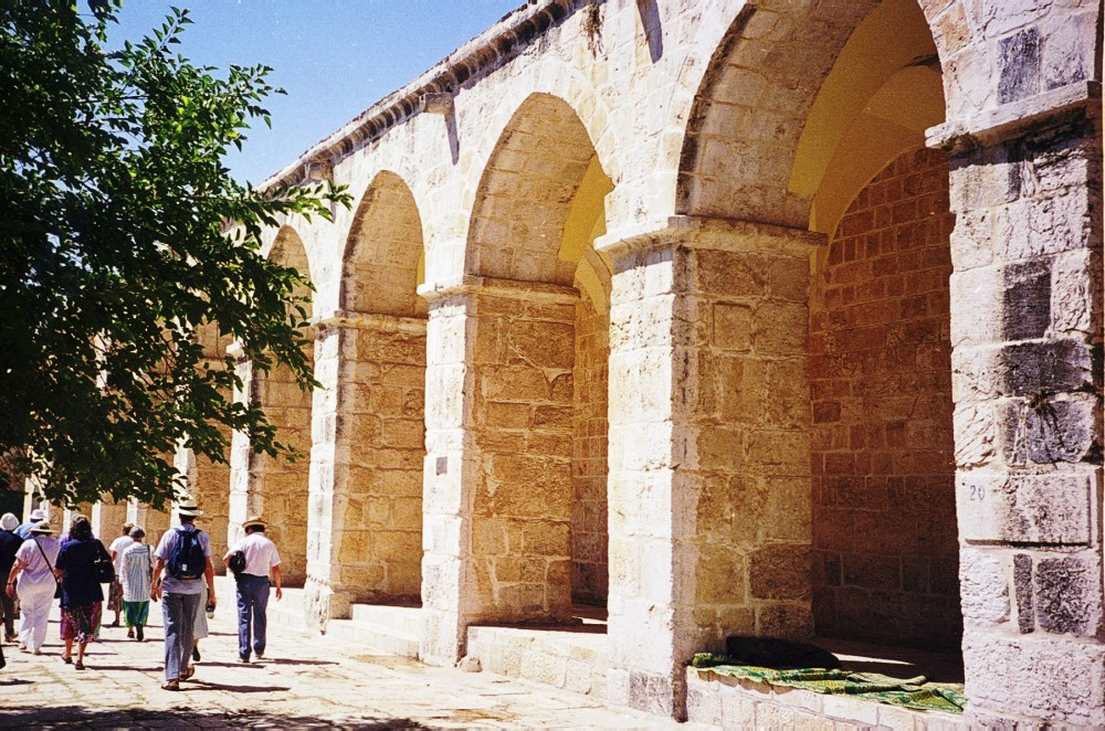 A colonnaded portico on the Temple Mount