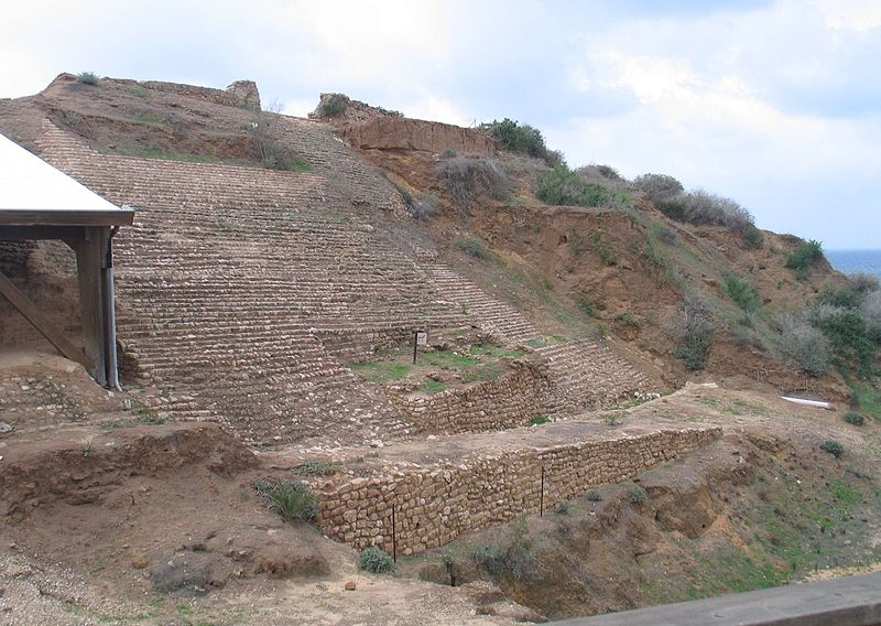 Philistine walls at Ashkelon