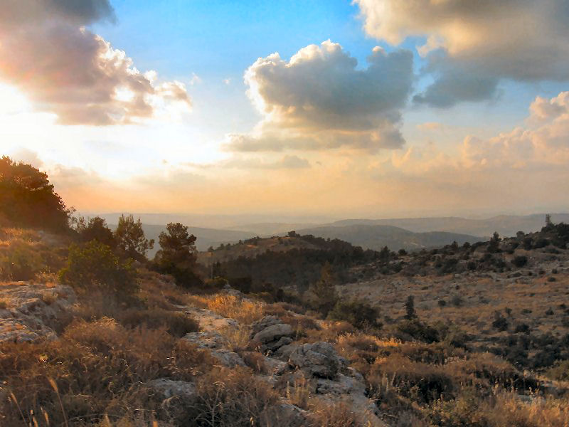 Sunset over the Judaean Hills