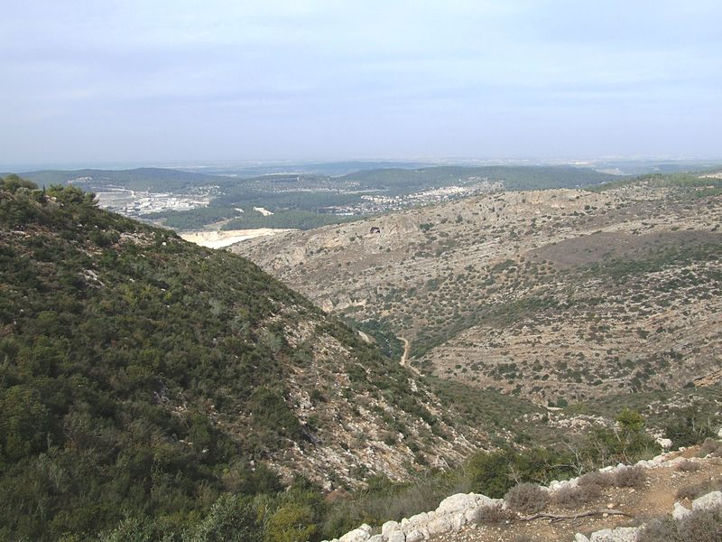 A mountain pass in Israel (lehava beer sheva)