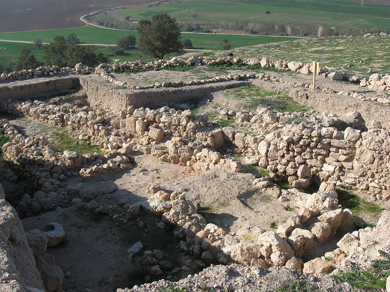 Remains at Tel Zafit (Gath)  (Ori)
