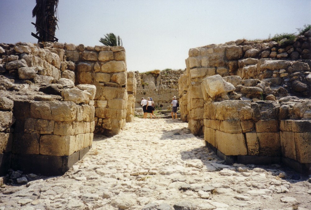 Solomonic gateway at Megiddo
