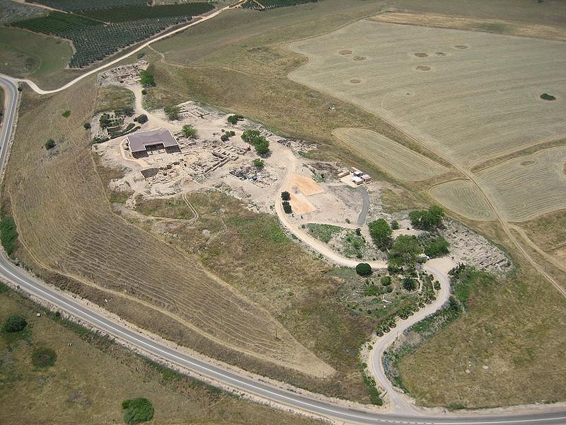 Tel Hatzor from the air ( אסף.צ  )