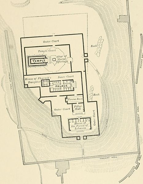 Plan of Solomon's Temple (1905) (Internet Archive Book Images)
