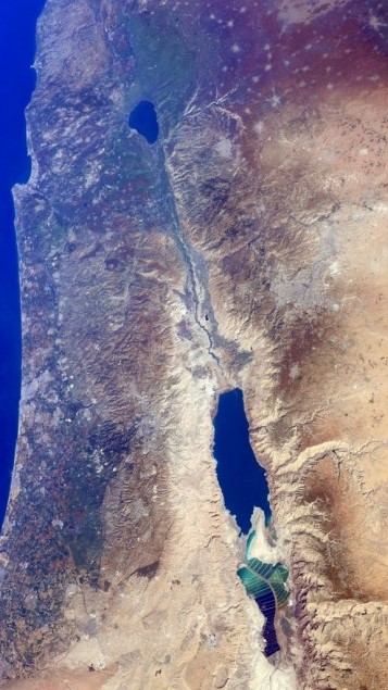 Israel from the International Space Station (NASA)