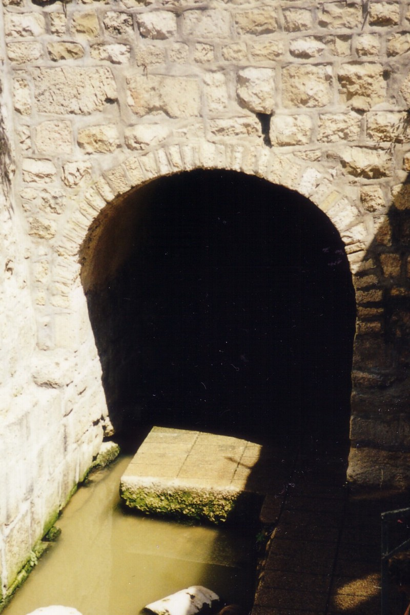 The entrance to Hezekiah's Tunnel at the Upper Pool