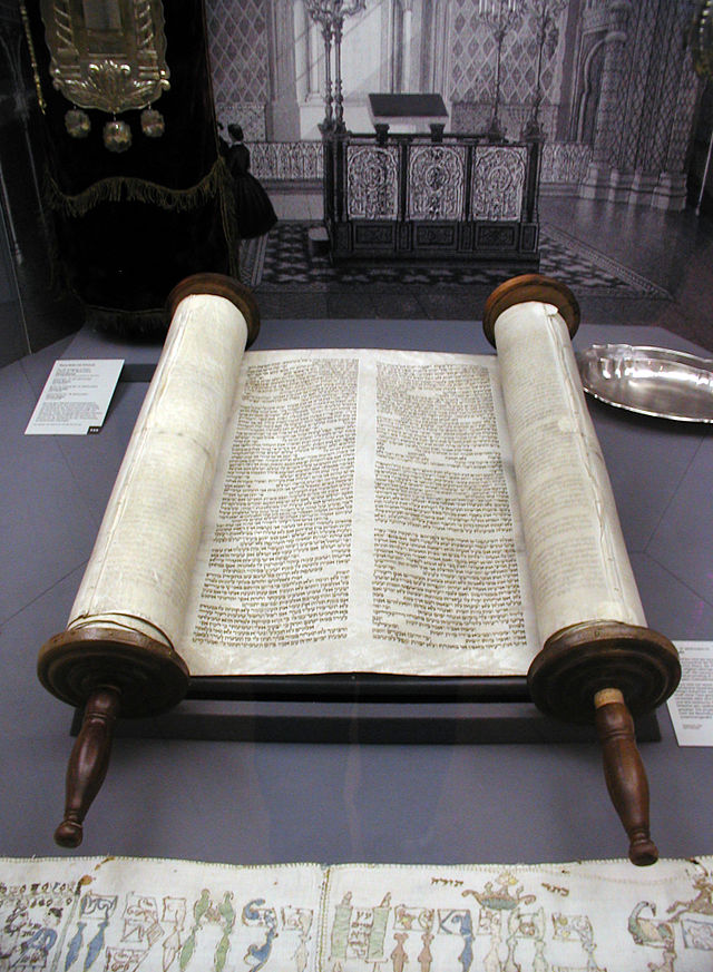 Sefer Torah at Glockengasse Synagogue, Cologne (Willy Horst)