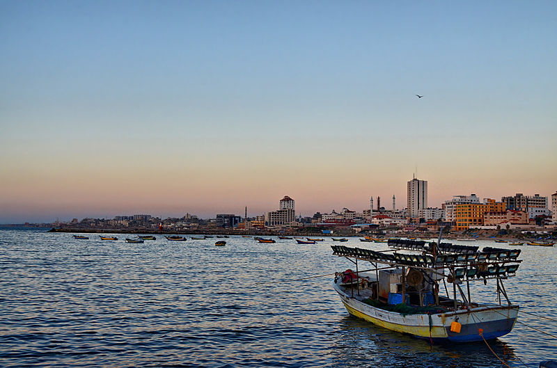 Gaza from the sea