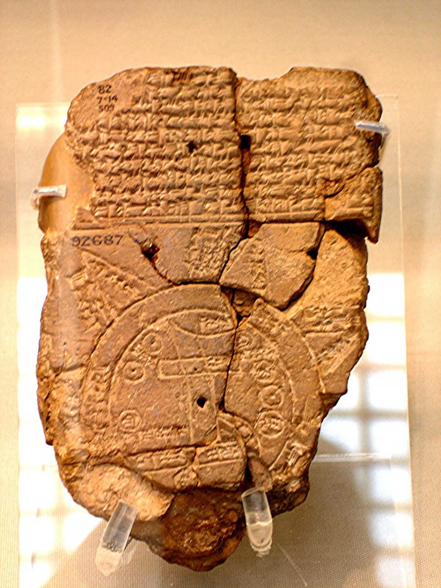 Babylonian map of Mesopotamia
