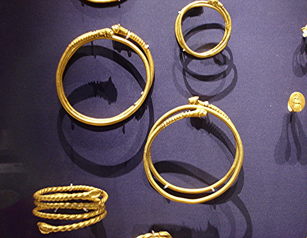 Gold armlets from Persepolis