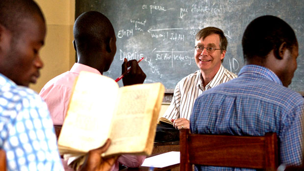 AIM volunteer teaching theology in Kenya