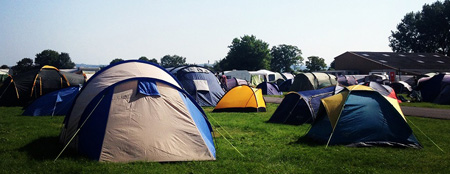 Camping at Soul Survivor