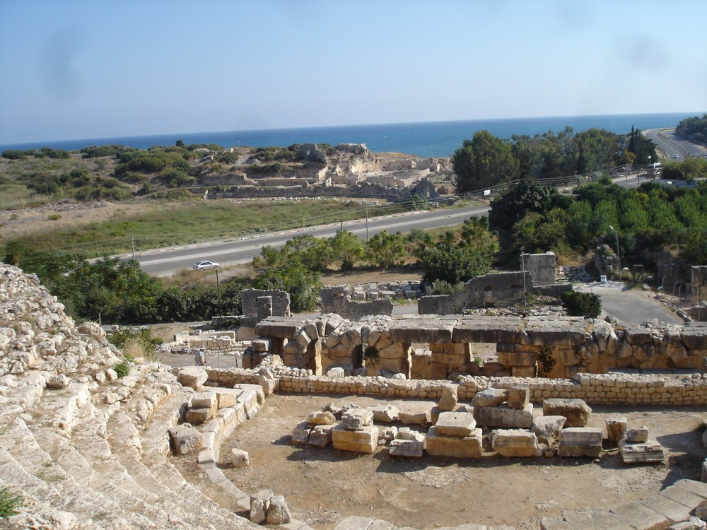 View from C2nd AD Roman Theatre at Elaiussa Sebaste, Turkey