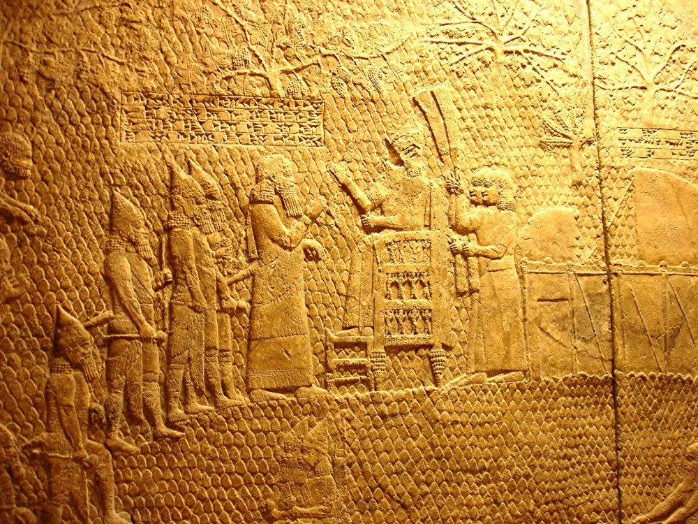 Assyrian King Sennacherib on his throne (British Museum)