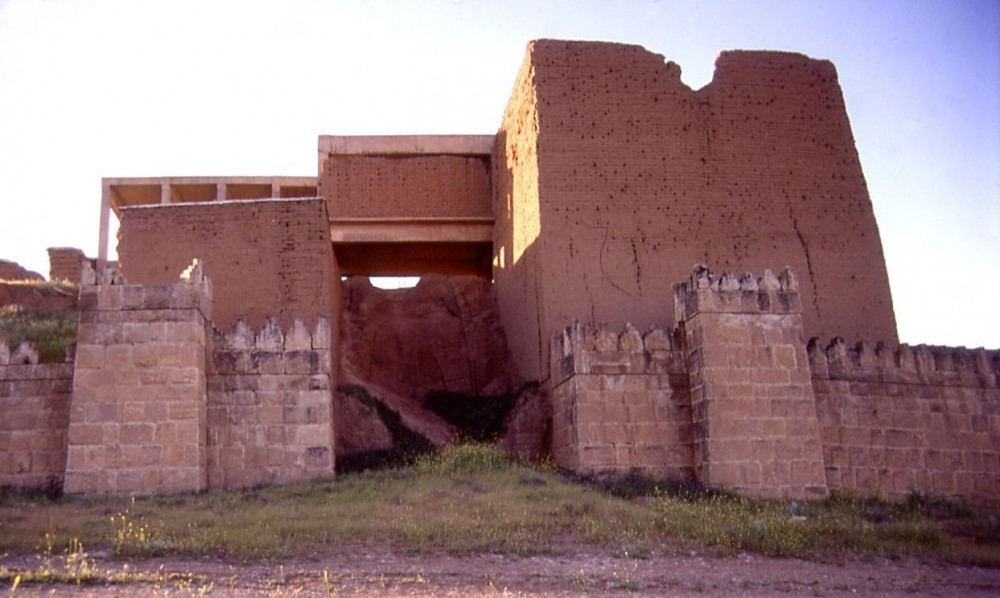 Partially restored Arad Gate of Nineveh