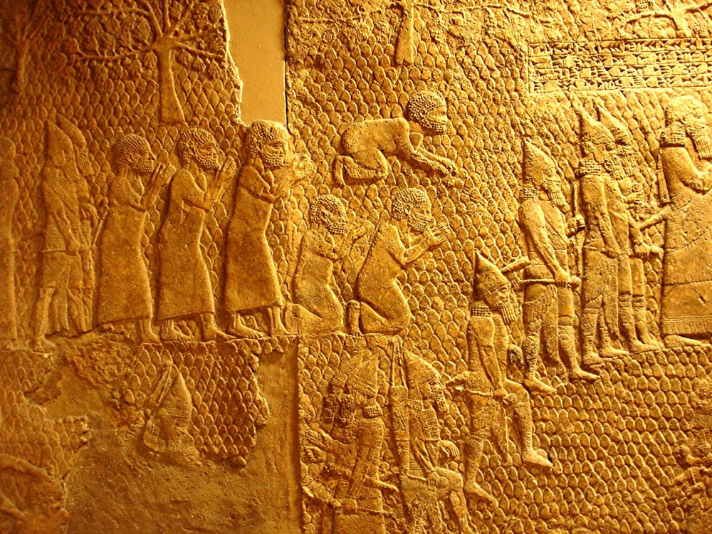 Judaite prisoners being brought before Sennacherib (British Museum)