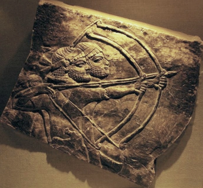 Two Assyrian archers at Nineveh