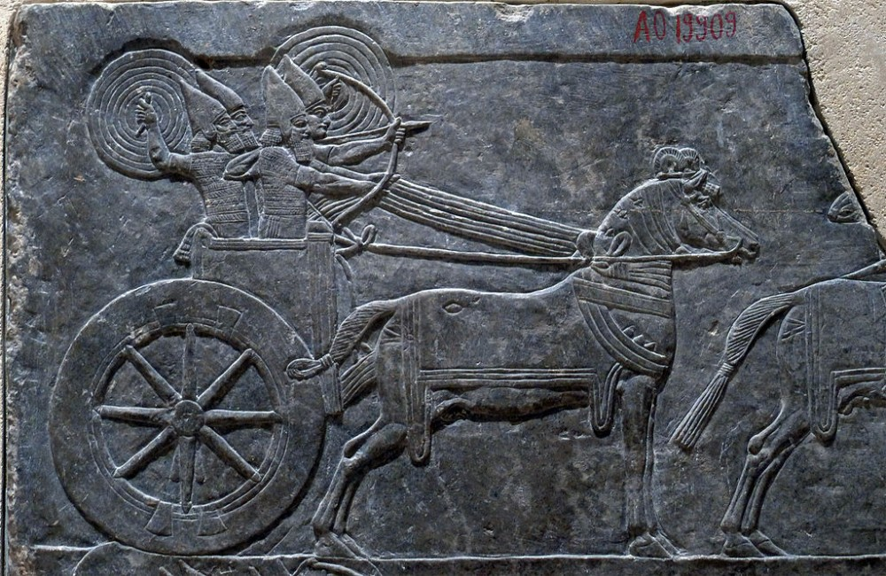 Assyrian chariot at the Louvre