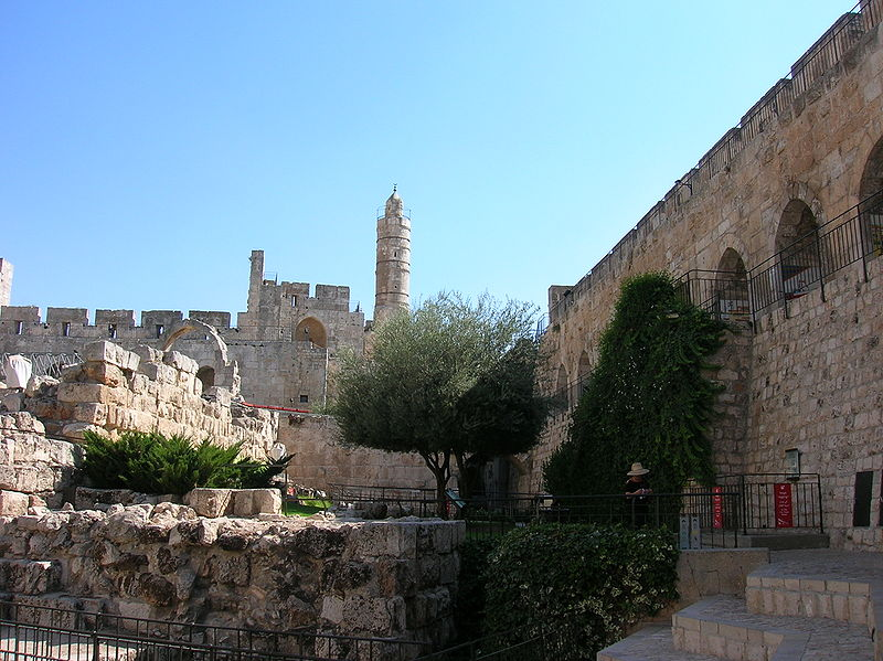 Jerusalem - City walls near Tower of David (EdoM)