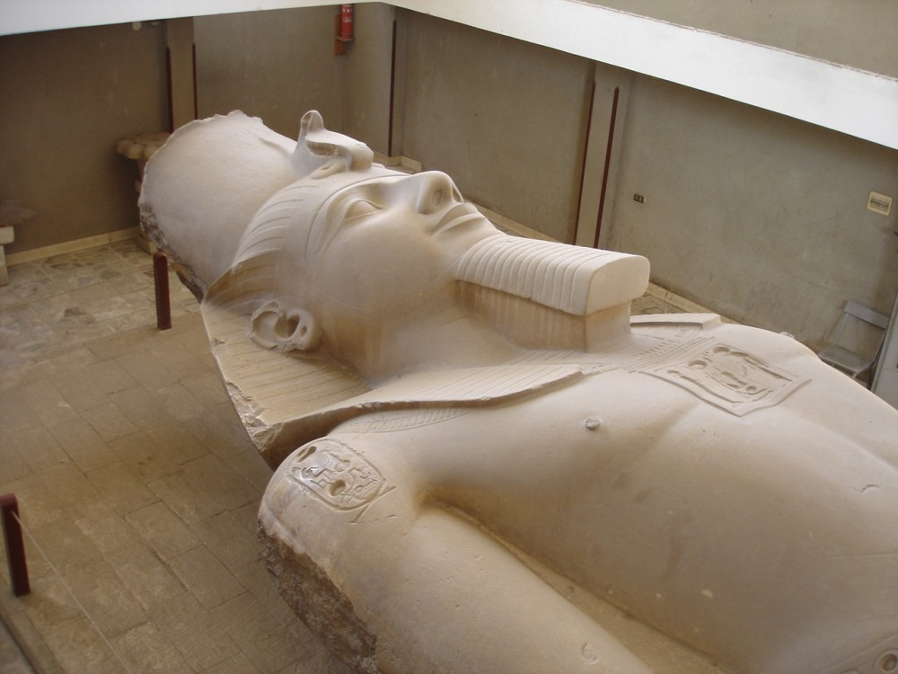 Colossus of Ramesses II at Memphis (Mit Rahina Museum)