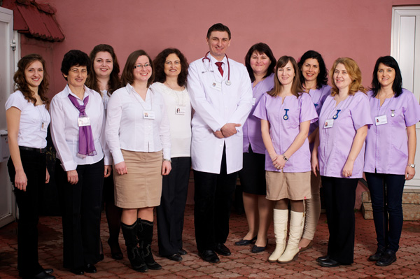 Staff at Emanuel Hospice, Oradea, Romania
