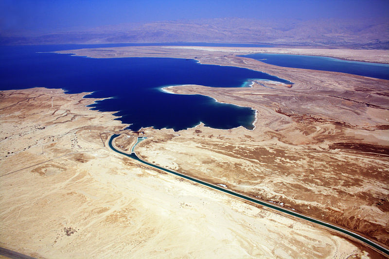 The canal connecting both parts of the Dead Sea (nr Masada) (Neukoln)