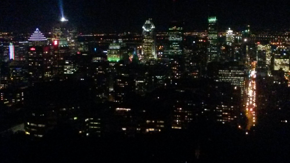 Downtown Montreal from Mont Real