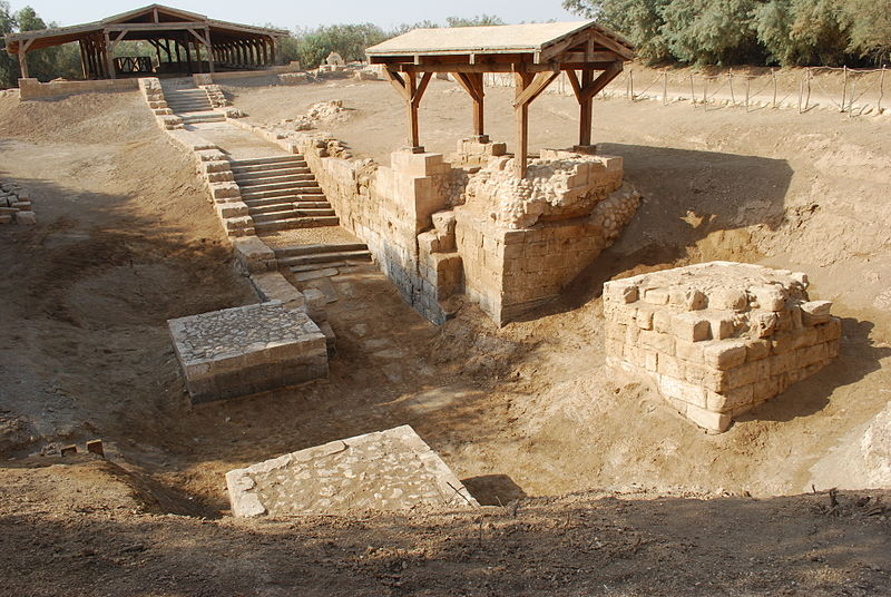 Bethany beyond the Jordan - remains of baptismal site (Jean Housen)