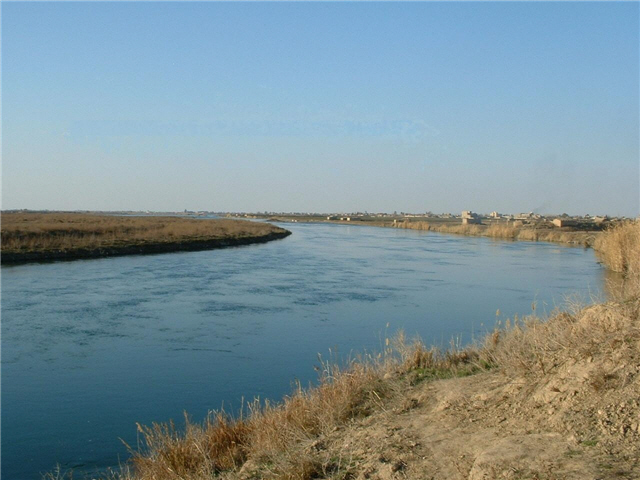 Euphrates River at Abu Kamal (Anas Salloum)
