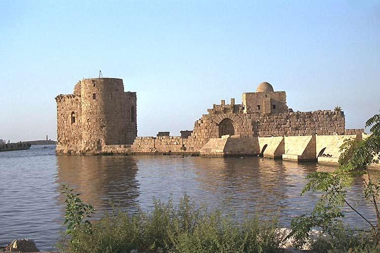 Sidon - the old port (Grandjean)