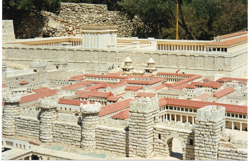Model of the Temple at the Holy Land Hotel, Jerusalem