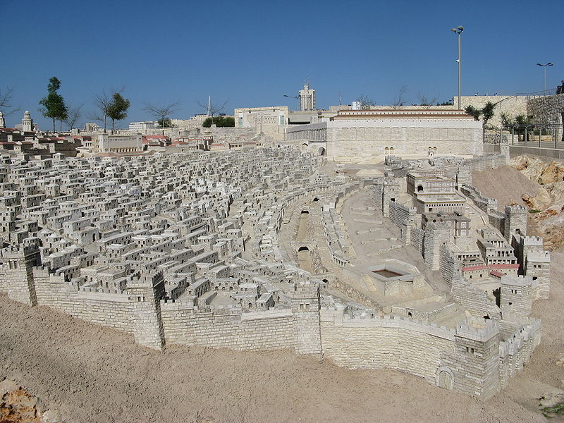 Jerusalem in Late 2nd Temple Period - Model at Israel Museum (Yair Haklai)