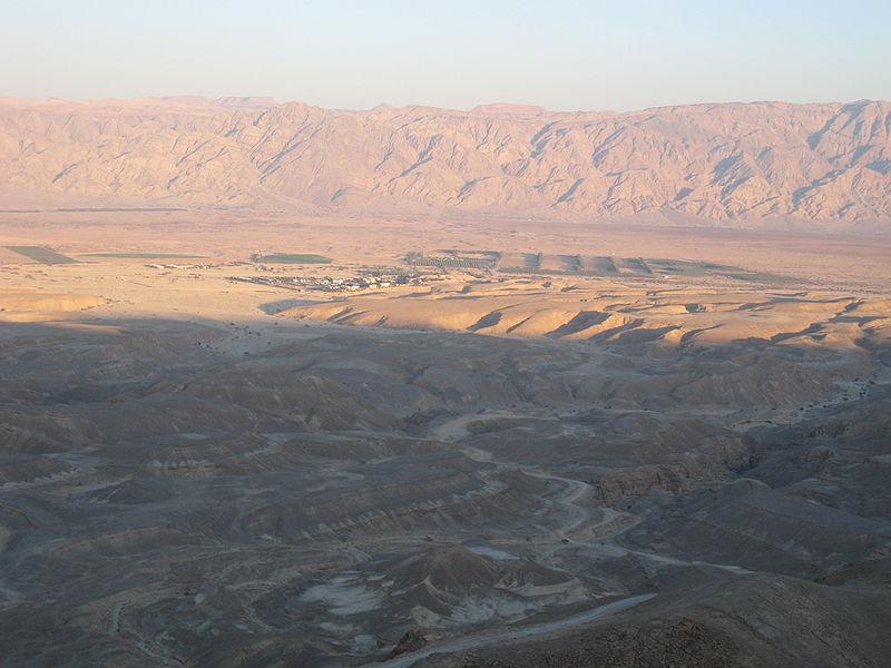 Wadi Aravah & the Mountains of Moab at sunset (Chadica)