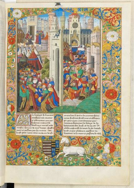 The Jewish War by Flavius Josephus (c.1480-85) - Musée Condé Ms776