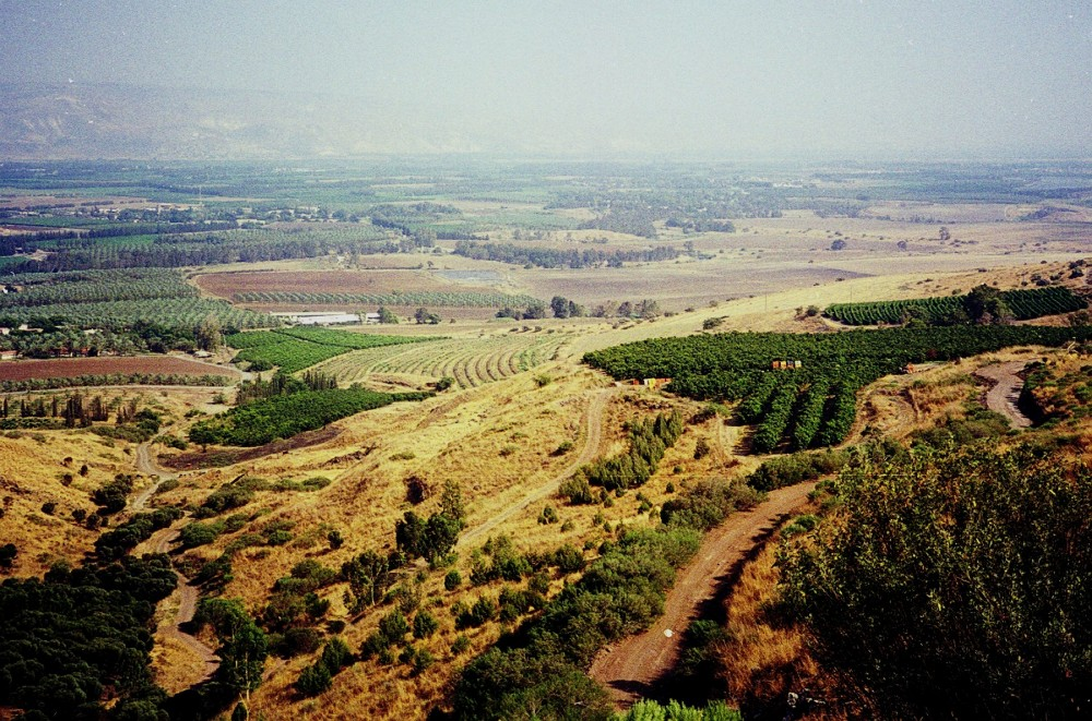 Looking across the Jordan Valley near Deganya