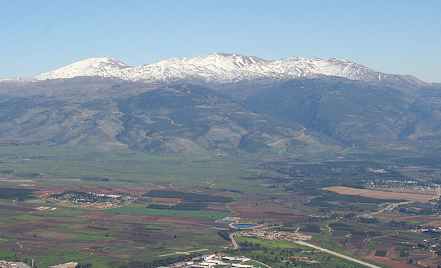 Hula Valley & Mt Hermon from Manara (Beivushtang)
