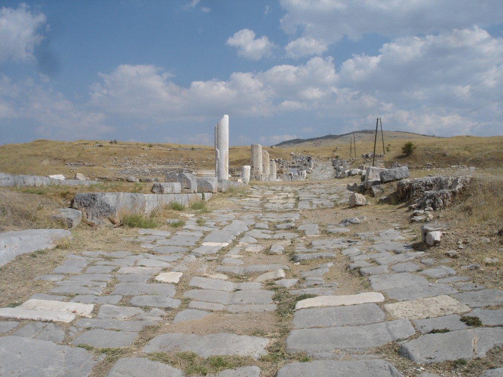 The Decumanus Maximus at Antioch in Pisidia where Paul was persecuted on his first missionary journey