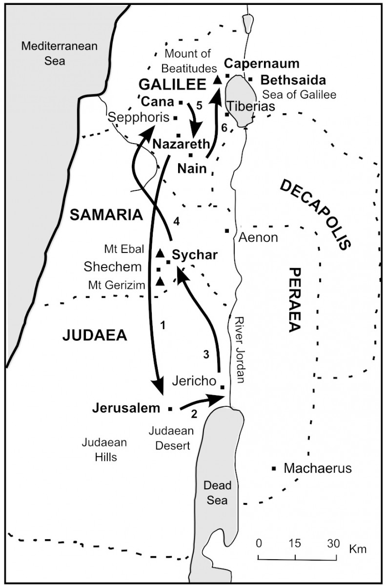 The Bible Journey  Jesus travels to Jerusalem