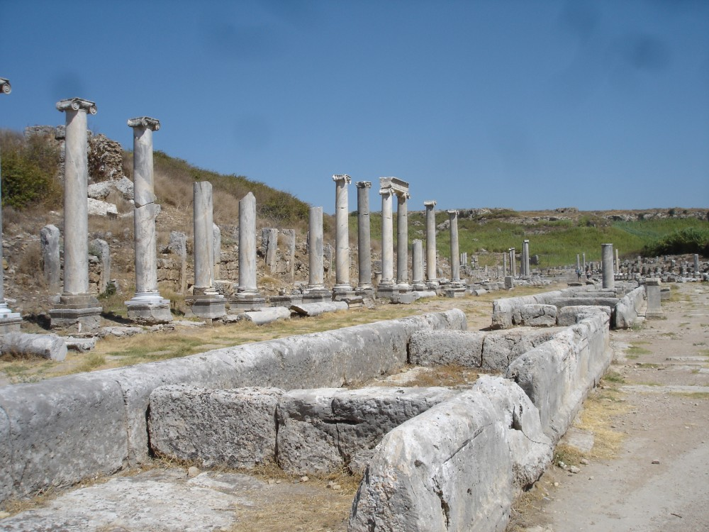 Colonnaded street in Perga
